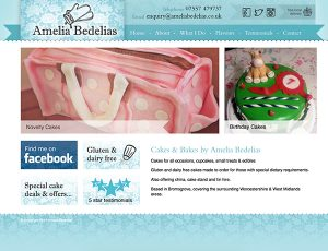 Amelia Bedelias website design