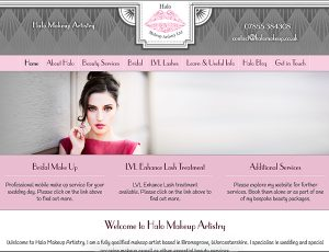Halo Makeup website design