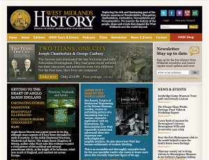 History West Midlands website design
