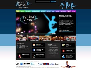 Learning Curves website design