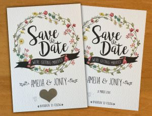 Save the date wedding cards