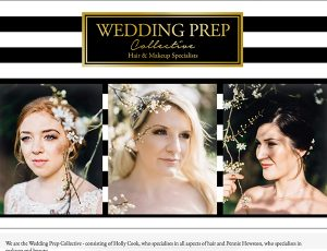 Wedding Prep Collective website design